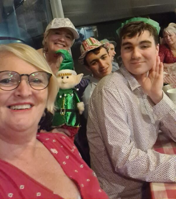 Christmas party for young adults with mild disabilities