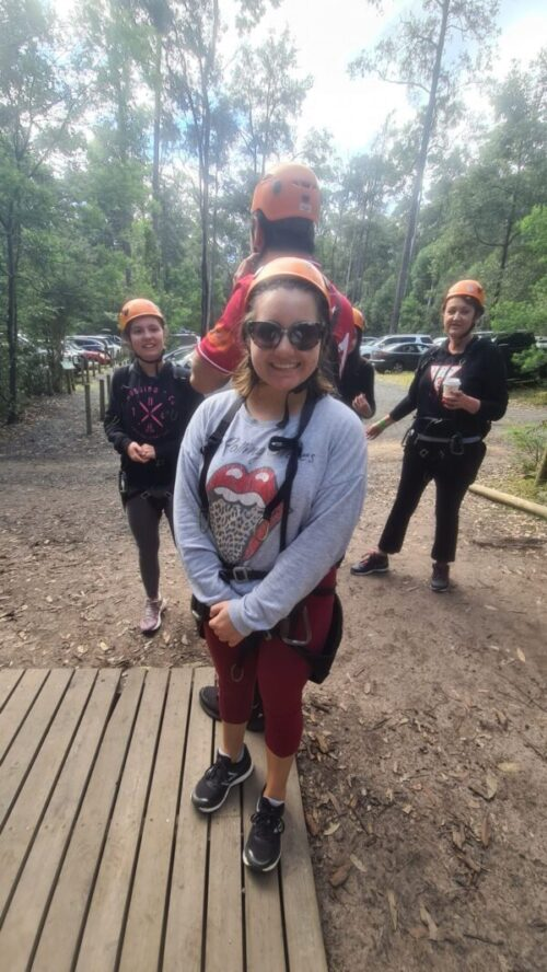 High ropes for young adults with mild disabilities